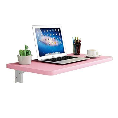 INTER FAST Escritorio plegable de pared, mesa de almacenamiento colgada en la pared, escritorio de ordenador, soporte de metal simple, multicolor y multitamaño opcional, (color: F, tamaño: 90 x 40 cm)