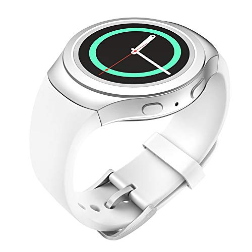 Lakvom Silicone Sport Style Watch Band for Samsung Gear S2 - White
