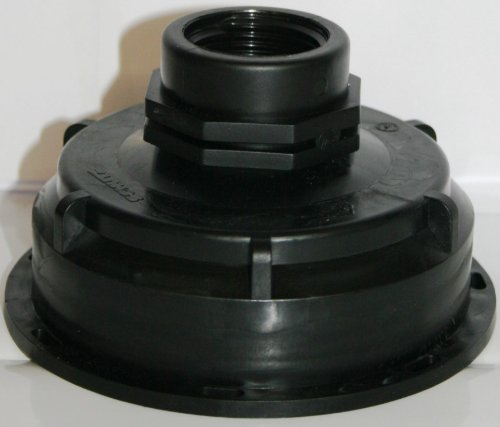 AMS100290 Auslaufstutzen S100 x 8 mit Übergangsnippel, IBC-Container-Zubehör-Regenwasser-Tank-Adapter-Fitting-Kanister