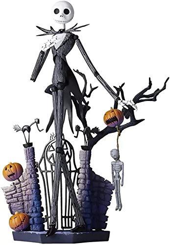 Anime Action Figuras Carácter La Pesadilla Antes de Navidad Muñeca PVC Skeleton Jack Modelo Juego de niños Figuras de acción 20 cm