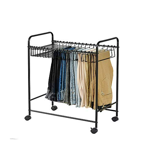 SXDY Trouser Rolling Trolley, Pants Hanger Trolley Closet Organizer, for Small Closets, Dorm Rooms, or Rooms with a Wardrobe - for Storage Trousers, Skirts, Shawls