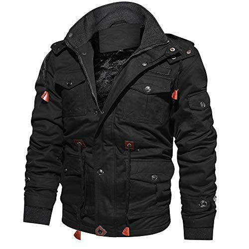 Doufan Militaire Jas Mannen Winter Dikke Cargo Jas Thermal Fleece Pilot Jassen Windbreaker Jas