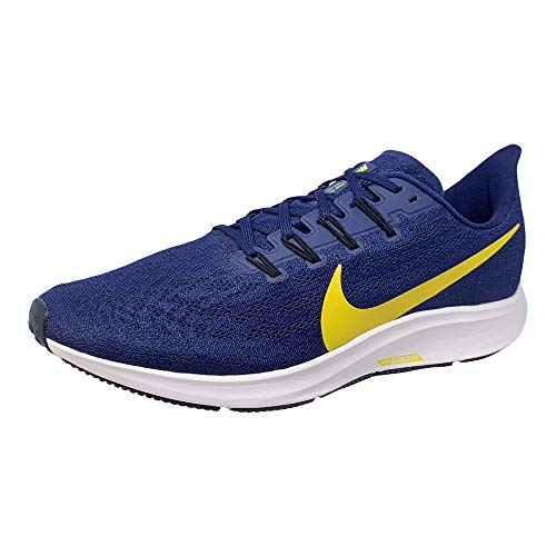 Nike Air Zoom Pegasus 36 Mens Running Shoe (College Navy/Amarillo-Obsidian, Numeric_11_Point_5)