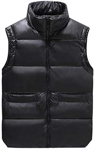 LYLY Vest Women Men's Winter Vests Waistcoat Thicken Sleeveless Jackets Warm Windproof Parkas Casual Coats for Unisex Travel Vest Vest Warm (Color : Black, Size : L)