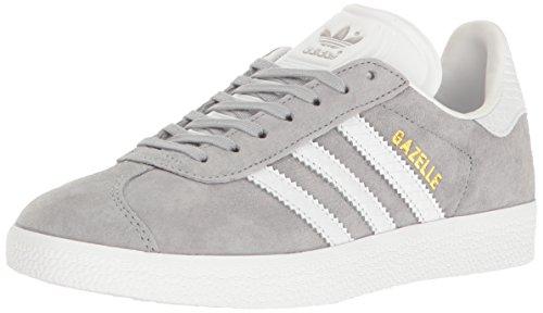 adidas Originals Women's Shoes   Gazelle Fashion Sneakers, Mid Grey White/Metallic/Gold, (6.5 M US)
