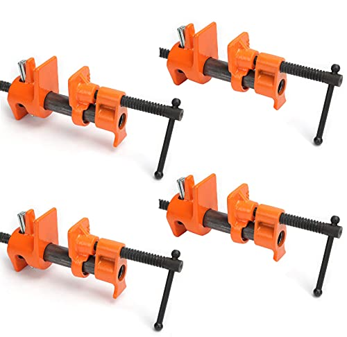 Y&Y Decor 4 PACK 1/2inches Wood Gluing Pipe Clamp Set