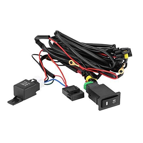 zhuzhu Kit de cableado del Interruptor de luz de la luz de la luz de la luz de la luz de la luz del Coche LED de la Niebla Encendido/Apagado del Interruptor del cableado del arnés del Fusible Kit de