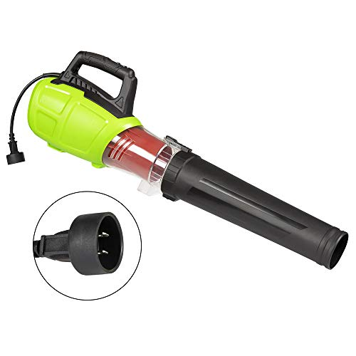 Turbine Leaf Blower Electric Corded Powerful Black Nozzle - Corded Weed Eater Leaf Blower Handheld 12AMP 160 MPH 600 CFM use for Sweeping Patio Lawn Garden Car Motrocycle Dust Snow