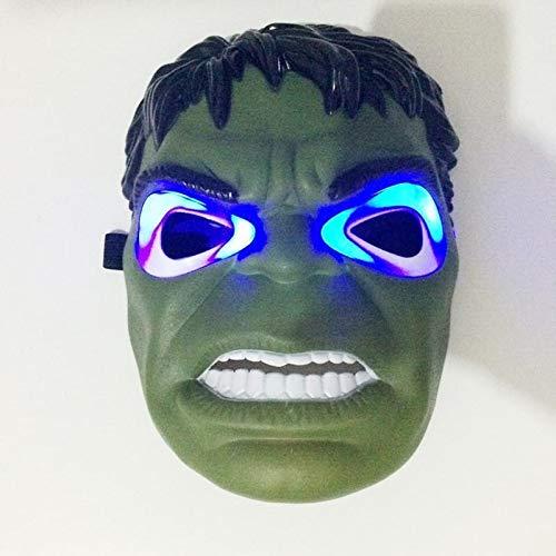 yitao Juguete de Peluche Avengers Hero Cosplay Capitán América Iron Man Superhéroe Spiderman Hulk Batman Máscaras Suministros De Fiesta De Halloween Máscara Led Brillante