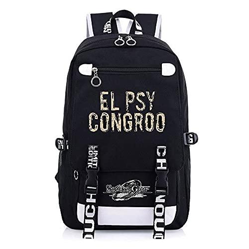 JXEXF Steins; Porta Viaggio alla Moda Casual Sports Sports Daypack, Schoolbag Zaino Game Game Schole School Zaino, Buon Regalo (Color : Black, Size : 48 * 30 * 15cm)