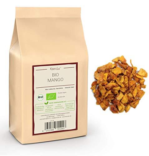 1kg de Mangue BIO séchée, non sulfurée et non sucrée – lanières de mangues BIO séchées sans sucre