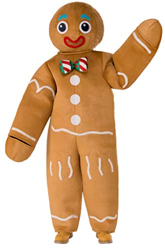 Rubie's Men's Oversized Gingerbread Man Mascot Costume, As Shown, One Size
