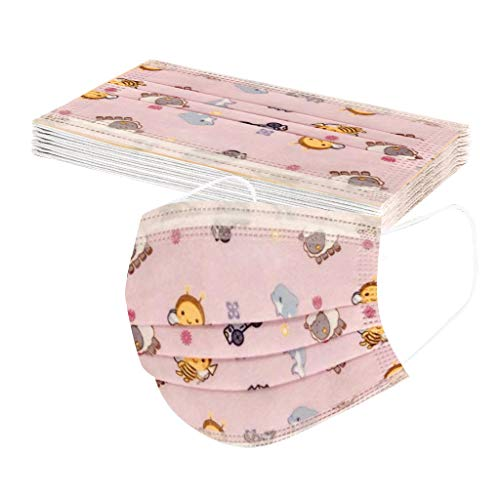 Benficial Boy Girl(Age4-10) Disposable Cartoon Printed Face Protect, 3 Layers Breathable and Comfortable Elastic Ear Loop 10pcs