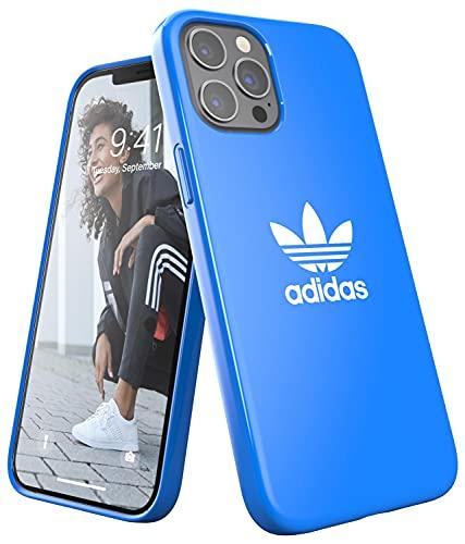 adidas Funda diseñada para iPhone 12 Pro MAX 6.7, Fundas a Prueba de caídas, Bordes elevados, Carcasa Original, Color Azul