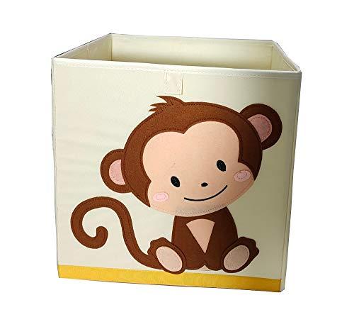 N / A Cube Oxford Tissu Animal Broderie Boîte De Rangement Pliante Enfant Jouets Organisateur Enfants Divers Panier De Rangement 33 * 33 * 33 cm