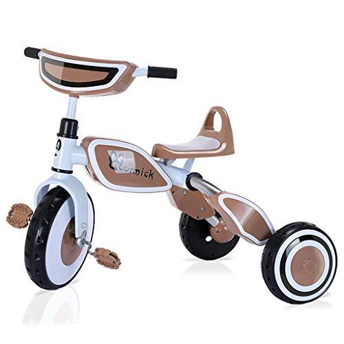Kinderen driewieler kinderwagen vouwauto licht kind auto 2-5 jaar oud baby driewieler fiets bruin bruin