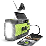 【2020 Newest】RunningSnail Emergency Crank Radio,4000mAh-Solar Hand Crank Portable AM/FM/NOAA Weather Radio with 1W Flashlight&Motion Sensor Reading Lamp,Cell Phone Charger, SOS for Home and Emergency