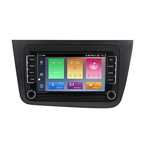 yanzz Car Stereo Sat Nav Adecuado para Seat Altea de 7 Pulgadas 2004-2015 GPS Unidad Principal estéreo táctil capacitiva HD Carplay Radio Multimedia Sistema de Radio Incorporado Rastreador, 8 núcl