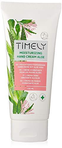 Timely - Crème hydratante et régénérante pour les mains à l'aloe vera, (Lot de 4 x 100 ml)