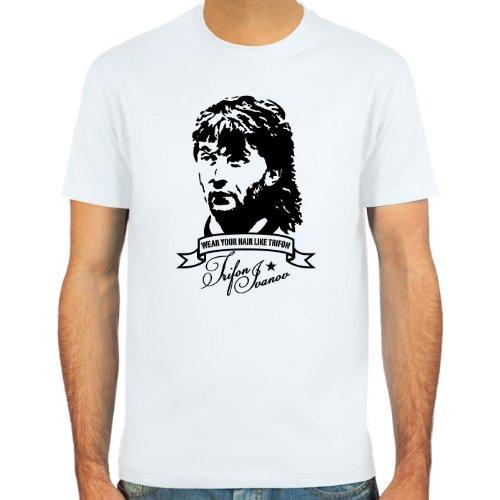 SpielRaum T-Shirt Trifon Vokuhila Ivanov ::: Farbauswahl: SkyBlue, Sand, weiß oder deepred ::: Größen: S-XXL ::: Fußball-Kult