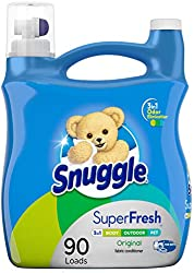 Snuggle Plus Super Fresh Liquid Fabric Softener with Odor Eliminating Technology, 95 Fluid Ounces (P