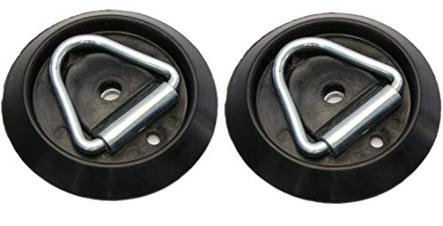 Troon&Co - 2 pack Lashing Ring & Base for Securing Loads in Horeboxes Trailers HGV