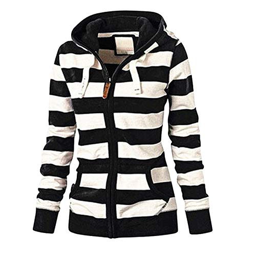 Women Sexy Zipper Tops Hoodie Hooded Sweatshirt Coat Jacket Casual Slim Jumper Black