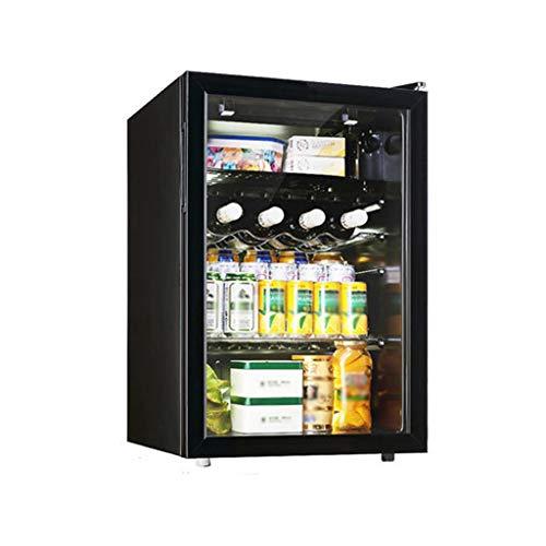 Nuitab Wijnkoelkast wijnkoeler Cooler Chiller kelder dranken fruit opslag koelkast -6-0 ° C 5-12 ° C Multifunctionele anti-UV-glazen deur zwart 47 × 44,5 × 67,6 cm