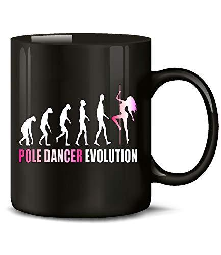Pole Dancer Evolution Tanzsport Geburtstag Geschenk Fun Tasse Becher Kaffeetasse Kaffeebecher Kaffeepott zubehör Equipment Fitness Profi ausrüstung anfänger deko Figur Geschenkidee tanzstange lustig
