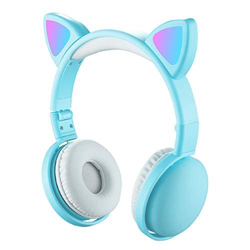 docooler Auriculares LED Cat Ear RGB 5.0 Auriculares BT5.0 Reducción del Ruido...