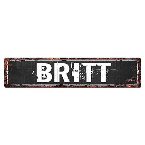 Desconocido Britt: Placa rústica para la Calle, con Texto en inglés Man Cave, Ideal como Regalo