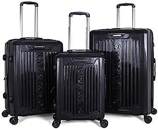 Giordano Luggage Trolley Bags For Unisex 3 Pcs, Black, 25-0274