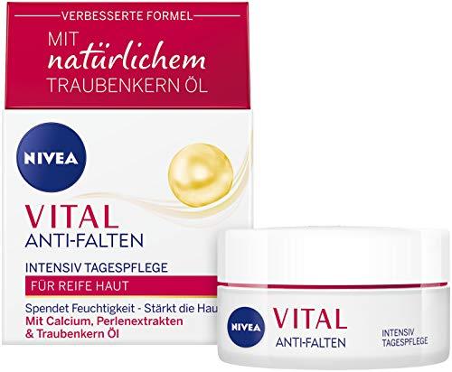 NIVEA VITAL Intensiv Tagespflege (50 ml), Feuchtigkeitspflege mit Calcium, Perlenextrakten &...
