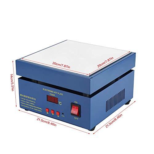 Estación de Precalentamiento,LED estación de soldadura 200*200 mm,Placa de Calentamiento Eléctrica de Microordenador 220V 800 W,Adecuado para Soldadura de Precalentamiento de PCB,Reingeniería de SMD