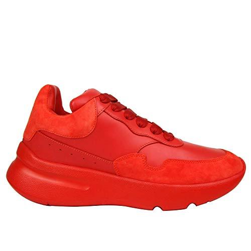 Alexander McQueen Women's Red Leather/Suede Sneaker 508291 6409 (36.5 EU / 6 US)