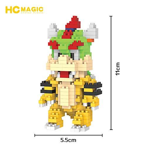 HC Magic Figura Dragon Super Mario Bros Juego Bloques de construccion tamaño 10 - 12 cm DIY Mini Building Puzzle Juguete niños colección