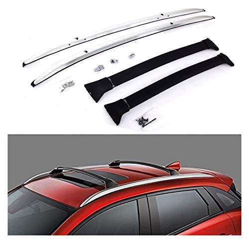 XIAOZHIWEN Racks de techo de automóviles Barras transversales Barras transversales Equipaje Carros de carga Carrera de equipaje Barra de barra de barra de barra CROSS CORTE PARA MAZDA- CX-3 CX3 2016-2