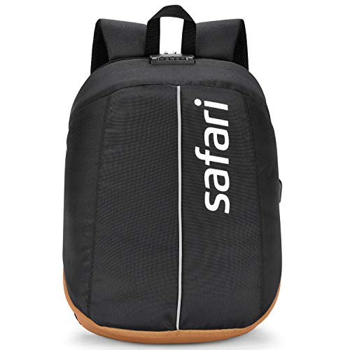 Safari 30 Ltrs Black Formal/Office/Laptop Backpack with Anti-Theft, Lock, USB and RFID (VAULT19CBBLK)