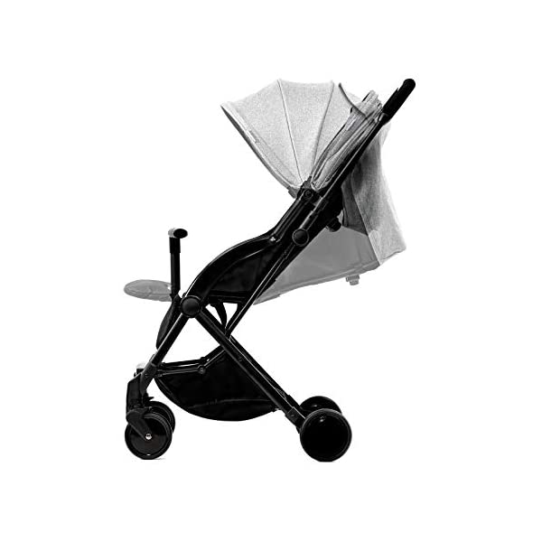 Kinderkraft Pilot light stroller, buggy stroller, child buggy, folding KinderKraft An innovative folding system, with a shoulder strap for easy transport The set contains: Modern barrier, shopping basket under the seat, foot protection, rain cover and cup holder. High quality stored, rubber wheels - all muffled. 2