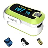 MIBEST Green Dual Color OLED Finger Pulse Oximeter - Blood Oxygen Saturation Monitor with Color OLED...
