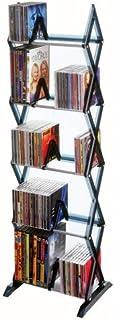 Atlantic Mitsu 5-Tier Media Rack - 130 CD or 90 DVD/BluRay/Games in Clear Smoke Finish, PN64835195