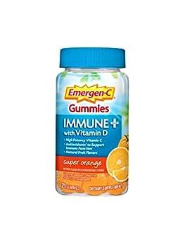 Emergen C Immune Plus Super Orange 21 Count Gummies