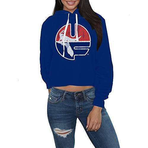 Elite Fan Shop Florida Gators Womens Crop Hoodie Sweatshirt - Medium - Blue
