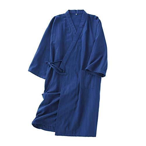 LIZANAN Japanische Mens Robe Baumwolle Kimono Pyjamas Nightgown [B5, Größe L]...
