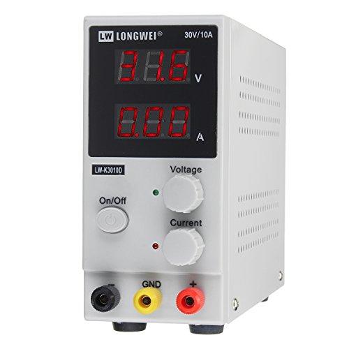 Masunn 0-30V 0-10A 220V Instelbare LCD-digitale schakeling DC-voeding voor laboratorium