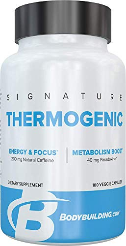 Bodybuilding Signature Thermogenic | Fat Burner for Men | Appetite Suppressant | Metabolism Booster | Weight Loss | Fat Burner for Women | Fat Burning Pills | 100 Capsules