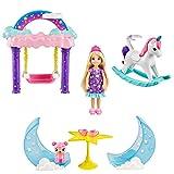 Barbie GTF50 - Dreamtopia Chelsea Feen-Baumhaus-Spielset mit Puppe, Geschenk für Kinder von 3 bis 7 Jahren