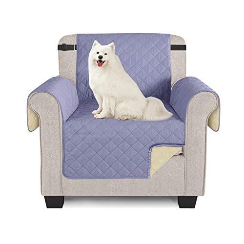 TAOCOCO Sofabezug für Sessel, wasserdicht, für Sofa oder Sessel, Blau / Grau, 1 Sitzer, 56 x 190 cm