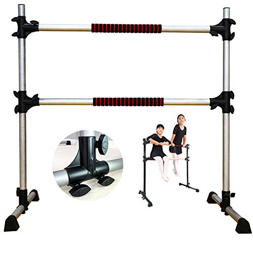 PreGymnastic 4 Ft Updated Adjustable & Portable Freestanding Ballet Barre with Carrying Bag for Dancing Stretching Updated