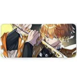 Demon Slayer Mouse Pad Cool Thunderbolt Gaming Mouse Pads for Office Home|15.7x35.4 in